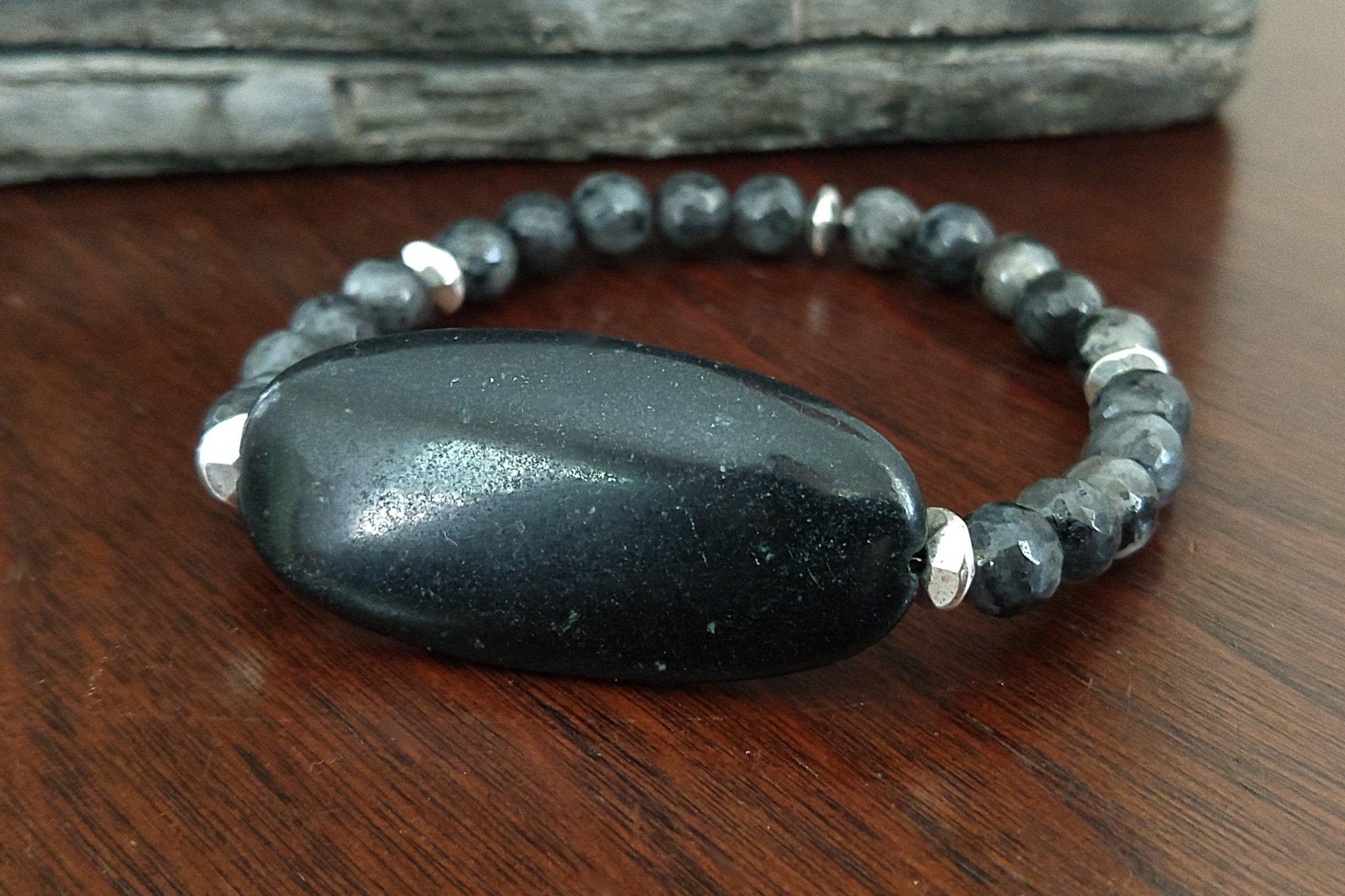 Black Labradorite Bracelet 6Mm
